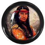 Native American Indian Warrior Fantasy Themed Wall Clock